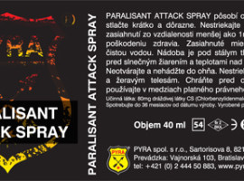 PYRA paralisant spray