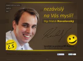 microsite matus.kovalovsky.com